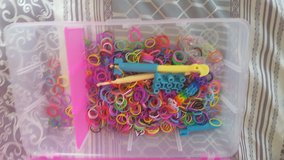 Storage box for rainbow loom rubber bands. Bands and hook included in Lawton, Oklahoma
