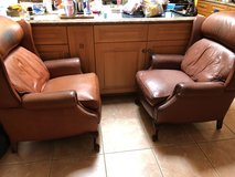 Pair of large leather recliners in Temecula, California