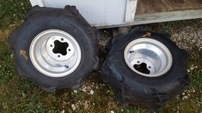 20x11-9 Paddle Tires & wheels Like New Sale/Trade in Fort Leonard Wood, Missouri
