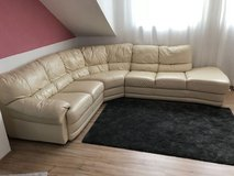 genuine leather couch in Ramstein, Germany