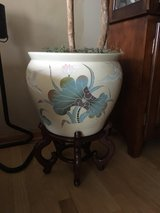 Porcelain Hand Painted Fish Bowl w/stand in Plainfield, Illinois