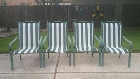 Aluminum Patio Sling Chairs in Kingwood, Texas
