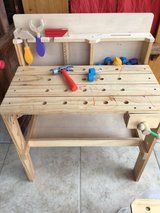 Kid's workbench in Fort Bliss, Texas