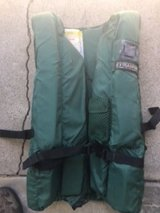Life vest (M) for boating/rafting, two 10' compression straps, dry box/ammo can in Roseville, California