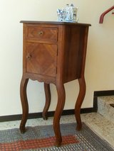 Art Nouveau side table Telephone table Nightstand with Enamel storage in Wiesbaden, GE