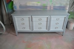 Bedroom set  3 Pieces available  Gray 2 tone  Brushed nickel hardware in Morris, Illinois