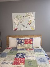 """Pottery Barn """"Surfs Up"""" kids quilt/sham for full/ twin bed and canvas - $120 (Kingwood) in Kingwood, Texas"""
