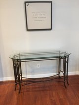 Beautiful glass and wroght iron entryway table - $50 in Kingwood, Texas