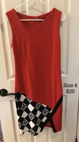 Size 6 - Asymmetric red/black-checkered ladies dress in Bolling AFB, DC