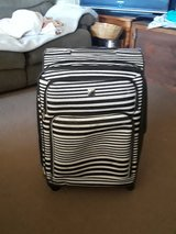 zebra stripped luggage in 29 Palms, California