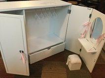 Doll clothes closet w/vanity and chair in Aurora, Illinois
