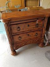 Tropical Style 3 Drawer Night Stand w/Pull-Out in Wilmington, North Carolina