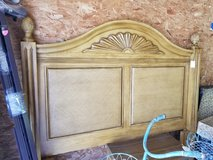 Wood & Wicker Headboard with Frame F/Qn Size in Camp Lejeune, North Carolina