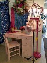 Pink Painted Wood Desk & Chair #1594-2965 in Camp Lejeune, North Carolina