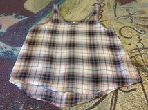 Mudd size Large plaid sheer tank top in Manhattan, Kansas