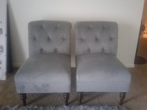 2 grey side chairs in Naperville, Illinois