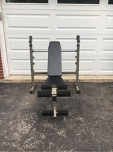 BF  weight bench with leg extensions and leg curl for in Lockport, Illinois