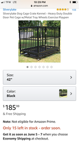 new never been used heavy duty dog Crate in Hinesville, Georgia