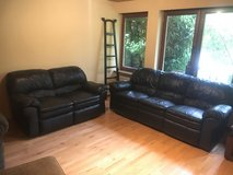 Leather Sofa set with possible delivery in Stuttgart, GE