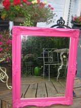 pretty BRIGHT PINK french mirror in Naperville, Illinois