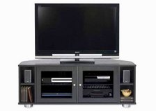 Majestic Angle Solid Wood Black Media Cabinet in El Paso, Texas