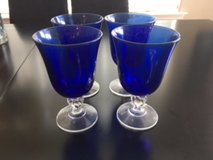 4 Blue Drinking Glasses in Beaufort, South Carolina