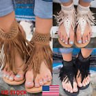 Bohemian Tassel Flat Gladiator Sandals Open Toe Casual Shoes Flip Flops in Beaufort, South Carolina