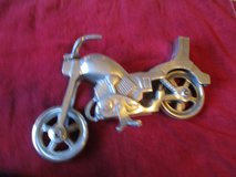 "13""  long motorcycle made of aluminium in Yucca Valley, California"