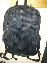 Black See through Mesh Bookbag in Beaufort, South Carolina
