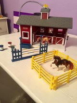 Breyer Stablemates Red Stable Set with Two Horses in Conroe, Texas