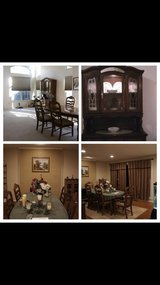 10 piece dining table set (chairs and china hutch included!) in Cary, North Carolina
