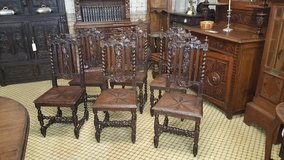 Set of 6 Carved Oak Chairs Free Delivery in Lakenheath, UK