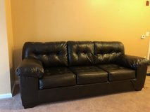 200.00$ cash for less than two week old lather sofa in Providence, Rhode Island