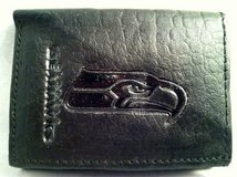 SEATTLE SEAHAWKS Black Tri-Fold Leather Wallet *** NEW *** in Tacoma, Washington