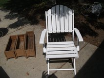 MASSIVE REDUCTION --OUTDOOR OR INDOOR ALL WOOD CHAIR in Westmont, Illinois