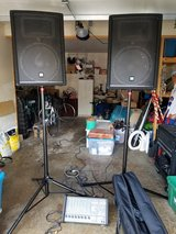 Yorkville PA system M810 Amp/Mixer and YX15 Speakers in Wheaton, Illinois