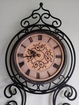 DECORATIVE METAL WALL CLOCK in Lockport, Illinois