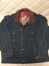 Denim Jacket w Leather Collar in Warner Robins, Georgia