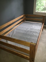 Solid Pine Twin Bed for Sale (Toddler Bed or Day Bed option as well)- This End Up Brand in Tinley Park, Illinois