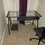 Metal computer desk with glass top in Elizabethtown, Kentucky