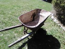 rusted wheel barrel for garden decoration or restore. in Westmont, Illinois