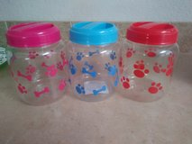 Plastic pet treat jars in 29 Palms, California