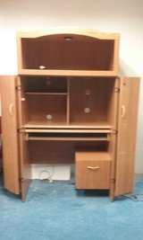 ENCLOSED OFFICE DESK WITH FILE CABINET AND LIGHT in Orland Park, Illinois