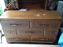 Vintage -Rock Maple- twin beds/2 and matching Dresser & Mirror in Wheaton, Illinois