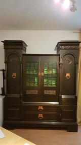 Cabinet for office or living room dated from 1880 Gruenderzeit oak wood in Stuttgart, GE