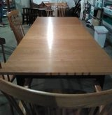 Maple Wood Dining Set-Table and 4 Chairs- Extra Leaves in Naperville, Illinois
