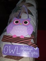 Owl wall hanging in Fort Campbell, Kentucky