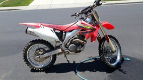 2002 Honda CRF450R Green Sticker $4000 no trades! in Travis AFB, California