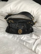 coach purse black leather in Lockport, Illinois