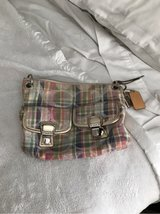 coach purse plaid summer colors in Lockport, Illinois